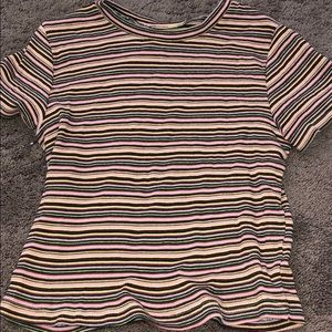 Brandy Melville colorful striped top